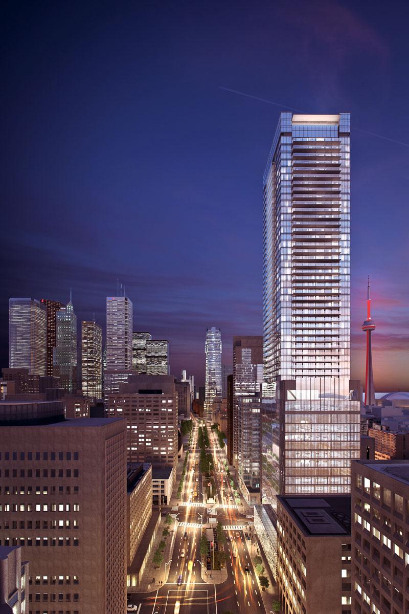 481 University Ave Condos Dusk South Toronto