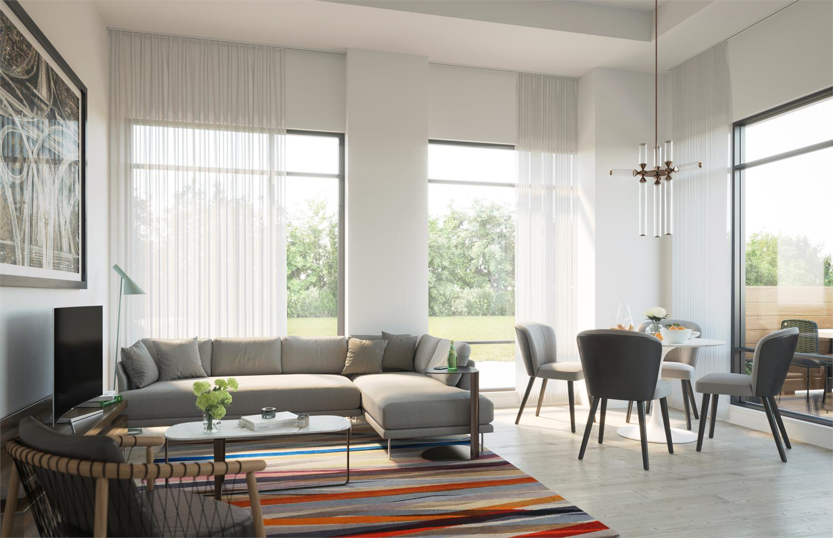 Casa Di Torre Condos Living Room, Hamilton