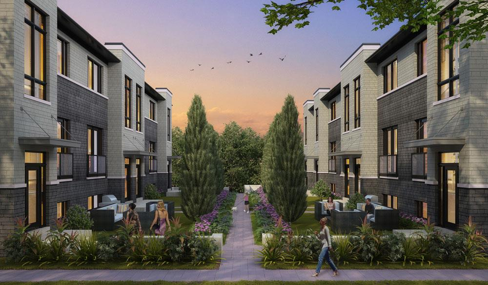The Avenue Towns Rendering, Richmod Hill