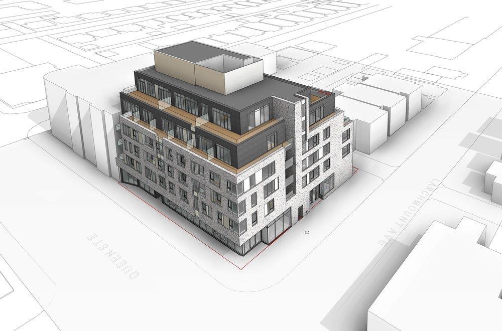 1151 Queen Street East Condos Exterior, Toronto