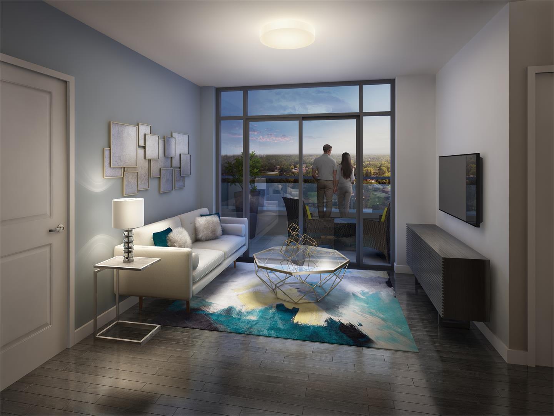 Barra on Queen Condos Living Room, Kitchener