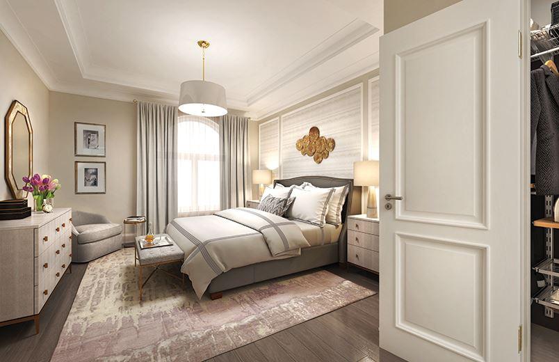 The Hart House Condos Master Bedroom, Markham