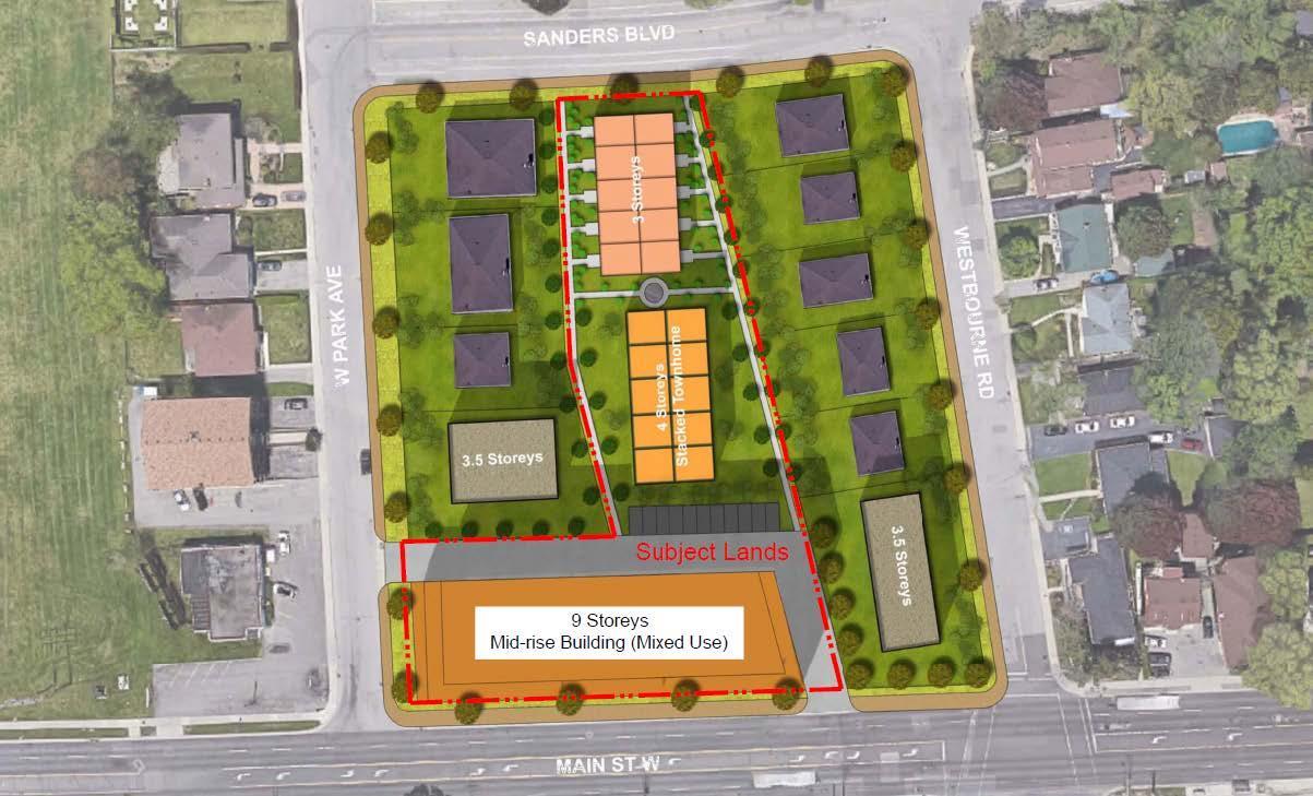 Sanders Gardens Condos Site Plan, Hamilton