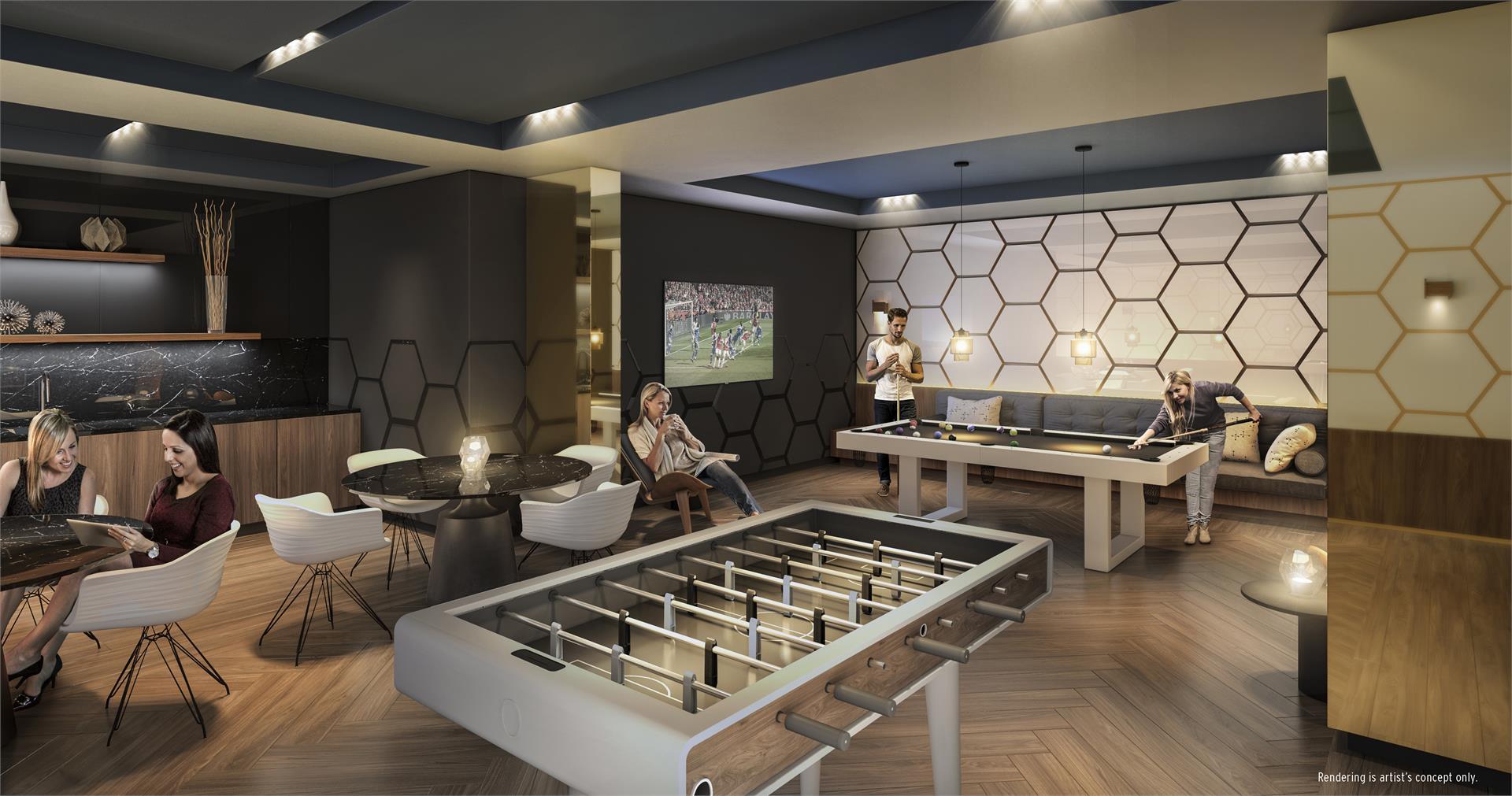 SuperSonic Condos Games Room, Toronto