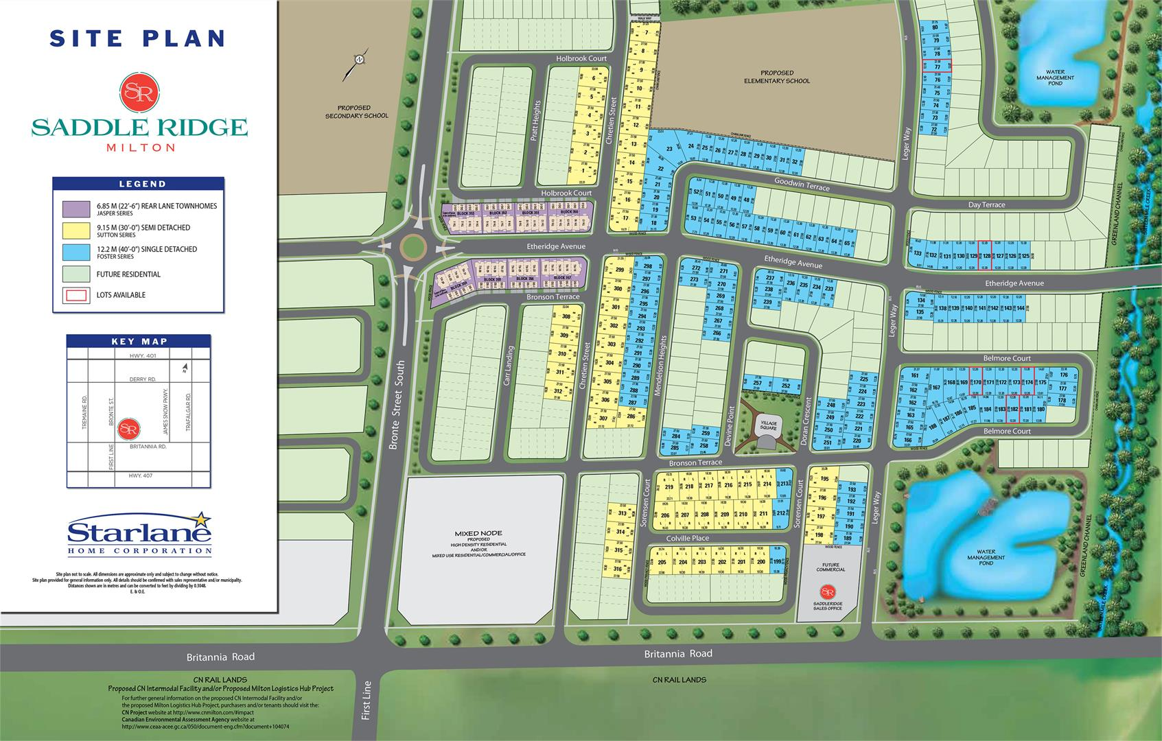 Saddle Ridge Site Plan Milton